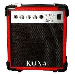Kona 10 Watt Guitar Amp KCA15RD Guitar Amplifier, Red