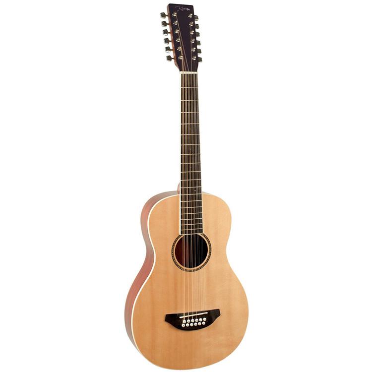 Johnson JG-TR12 Trailblazer 12-String Acoustic Travel Guitar with Gig Bag