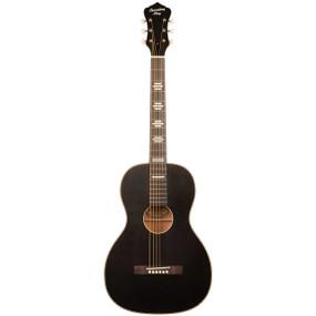 Recording King RPS-7-MBK Dirty 30's Single 0 Acoustic Guitar, Matte Black