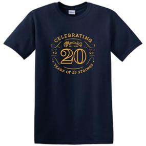 Martin 40MSP0097XL SP Strings 20th Anniversary T-Shirt, XL Navy