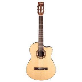 Jasmine JC25CE-NAT 6-String Classical Acoustic Electric Guitar, Natural