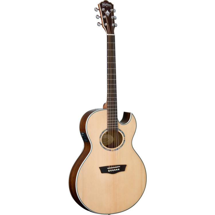 washburn ea20snb nuno bettencourt solid top jumbo acoustic electric guitar. Black Bedroom Furniture Sets. Home Design Ideas