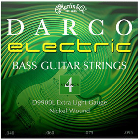 Martin D9900L Darco 4-String Electric Bass Guitar Strings, Extra Light