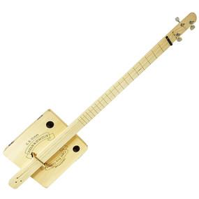 """Pure & Simple"" Fully Fretted 3-String Cigar Box Guitar DIY Kit, 36-013-01W"