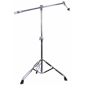 GP Percussion CBS208 Professional Series Boom Arm Cymbal Stand, Chrome