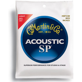 Martin MSP3100 SP 80/20 Bronze Acoustic Guitar Strings, Light Gauge