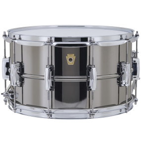 """Ludwig LB408 Black Beauty Supraphonic Snare Drum with Imperial Lugs, 8""""x 14"""""""