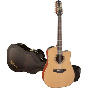 Takamine P3DC-12 Dreadnought Cutaway 12-String Acoustic Electric Guitar, Natural