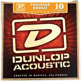 Dunlop DAP1048 Phosphor Bronze Acoustic Guitar Strings, Extra Light 10-48