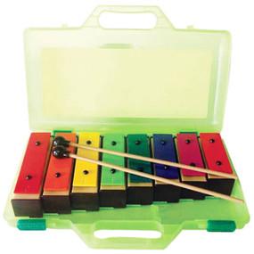 GP Percussion GPRB8 8 Resonator Bells with Case, Multi Colored