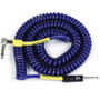 ZoZo Coiled Cable - 20ft Heavy Duty Coiled Guitar Bass & Instrument Cable, Blue