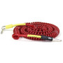 ZoZo Coiled Cable - 20ft Heavy Duty Coiled Guitar Bass & Instrument Cable, Red