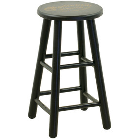 "Martin Guitar Strings 24"" Wooden Guitar Player Stool, Black - 40MSP0104"
