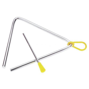 """Grover GV-3505 Hand Percussion 5"""" Metal Triangle w/ Striker and Holder"""