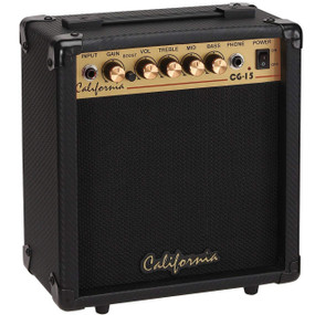 California Amps CG-15 Electric Guitar 15-Watt Practice Amplifier, Black