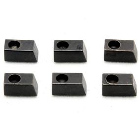 Floyd Rose FRPSLIBP Pro String Lock Insert Blocks, Black (Set of 6)