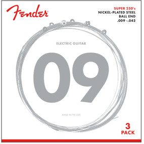 Fender 250L Super 250's Nickel-Plated Steel Electric Guitar Strings, Light- 3 Pack
