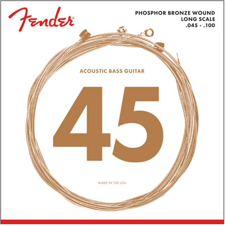 Fender 8060 Phosphor Bronze Acoustic Bass Guitar Strings, Long Scale