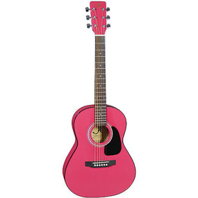 "J Reynolds JR14 36"" Inch Small Body Dreadnought Acoustic Guitar, Pink"