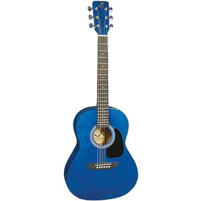 "J Reynolds JR14 Small Body Dreadnought 36"" Acoustic Guitar, Transparent Blue"