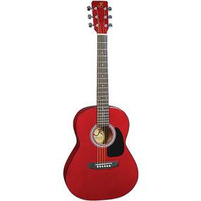 "J Reynolds JR14 36"" Dreadnought  3/4 Size Acoustic Guitar, Transparent Red"