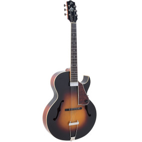 The Loar LH-350-VS Hand-Carved Archtop Acoustic Electric Guitar, Vintage Sunburst
