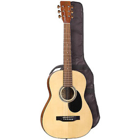 "J. Reynolds JR15S 36"" Student Steel String Acoustic Guitar w/ Gig Bag, Natural"
