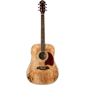 Oscar Schmidt OG2SM Dreadnought Acoustic Guitar, Spalted Maple