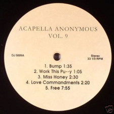"Acapella Anonymous - Vol 9 - 12"" Vinyl"