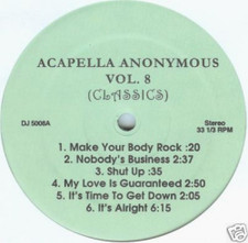 "Acapella Anonymous - Vol 8 - 12"" Vinyl"