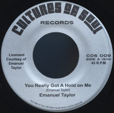 "Emanuel Taylor - You Really Got A Hold On Me - 7"" Vinyl"
