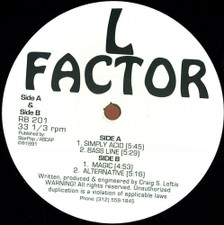 "L Factor - Simply Acid - 12"" Vinyl"