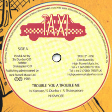 "Ini Kamoze - Trouble You A Trouble Me - 12"" Vinyl"