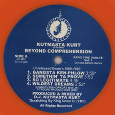 Kutmasta Kurt - Beyond Comprehension - LP Colored Vinyl