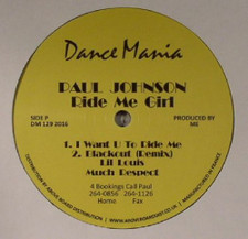 "Paul Johnson - Ride Me Girl - 12"" Vinyl"