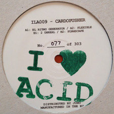 "Cardopusher - I Love Acid 009 - 12"" Vinyl"