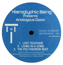 """Hieroglyphic Being Presents Analogous Doom - Living In A Zome Ep - 12"""" Colored Vinyl"""
