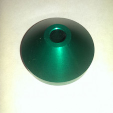 "Aluminum Spindle Adapter - Green - 7"" Adapter"