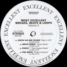 """Various Artists - Most Excellent Breaks, Beats & Loops Vol. 2 - 12"""" Vinyl"""
