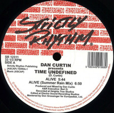 "Dan Curtin Presents Time Undefined - Alive / Cascade - 12"" Vinyl"