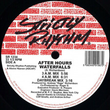 "After Hours - Waterfalls / Feel It - 12"" Vinyl"