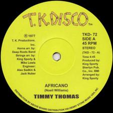 """Timmy Thomas - Africano (UK reissue) - 12"""" Vinyl"""