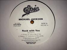 """Michael Jackson - Rock With You / P.Y.T. (Reeno Mixes) - 12"""" Vinyl"""