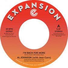 """Al Johnson - I'm Back For More - 7"""" Vinyl"""