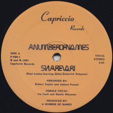"A Number Of Names - Sharevari - 12"" Vinyl"