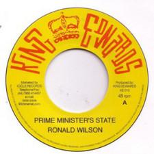 """Ronald Wilson / The Upsetters - Prime Minister's State / Strange Country - 7"""" Vinyl"""