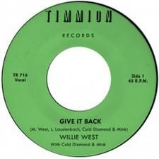 "Willie West / Cold Diamond & Mink - Give It Back - 7"" Vinyl"