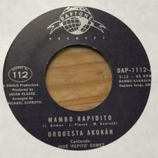 "Orquesta Akokan - Mambo Rapidito / Un Tabaco Para Elegua - 7"" Vinyl"