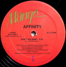 "Affinity - Don't Go Away - 12"" Vinyl"