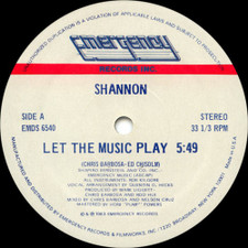 "Shannon - Let The Music Play - 12"" Vinyl"